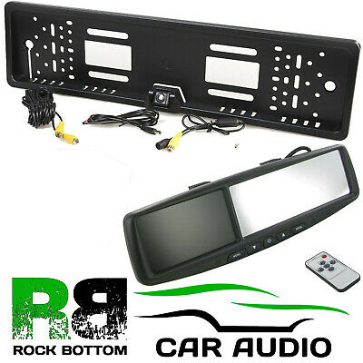 """For NISSAN 4.3"""" Rear View Reversing Mirror Monitor & Car Number Plate Camera Kit"""