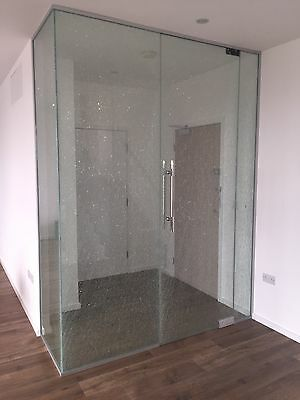 Crackle Glass 10mm Office & House Partitioning - Glass panels. NEW