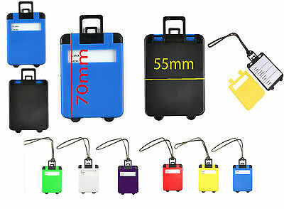 Luggage Tags Suitcase Bag Name Address Label Id Travel Holiday Hand Bag Tag New