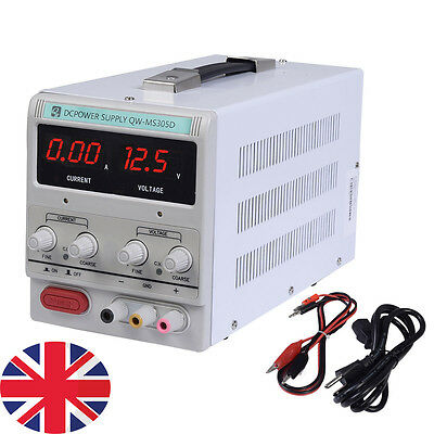 Adjustable DC Power Supply Precision Variable Digital Lab 0-5A 0-30V DC UK SHIP