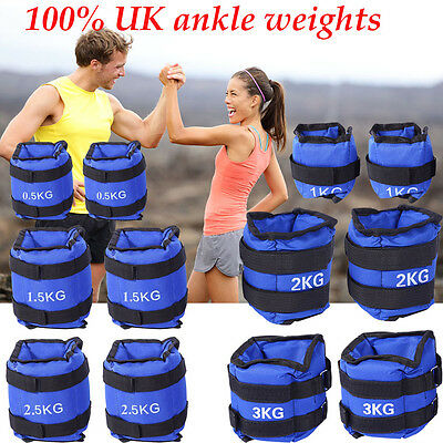 Sports Ankle Wrist Leg Weights Running Exercise Fitness Gym Strength Training
