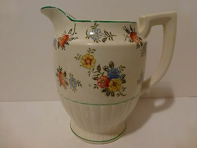 Vintage Seiei and Co., Japan, Pre WWII, Floral Hand Painted Pitcher     (S6