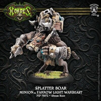 Hordes: Minions: Splatter Boar Farrow Light Warbeast (PIP75072) NEW