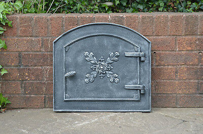 49 x 44.5 cm cast iron fire door clay bread oven doors pizza smoke house