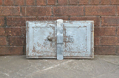 48.2 x 27 cm old steel fire bread oven door/doors clay/range/pizza fireplace