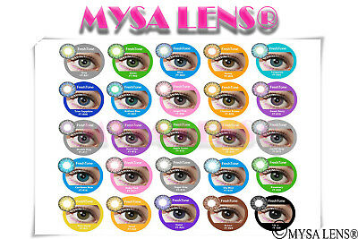 "Contact Color Lenses Crazy Lens Fantasy Cosplay "" ROMANCE®""12 Months + Free Case"