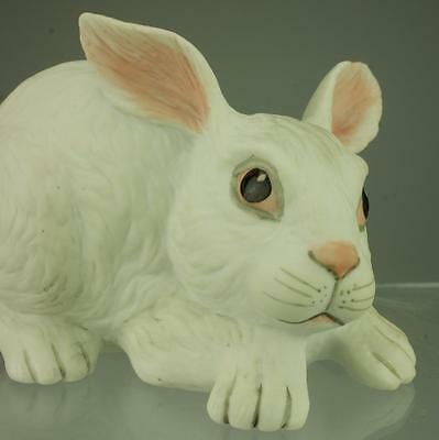 BOEHM Porcelain Statue Rabbit Newborn Playing Figurine Made in USA