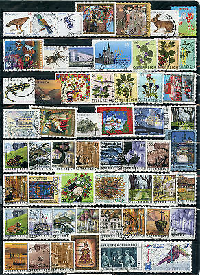 Weeda Austria 1780//2260 VF used collection, 1999-2010 recent issues CV $106.50
