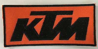 KTM Motorcycles  embroidered cloth patch.   B010503