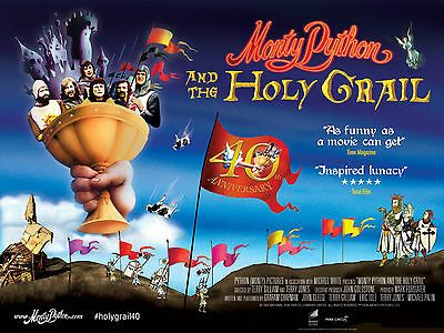 MONTY PYTHON AND THE HOLY GRAIL (40th Anniversary UK Quad) Cleese, Palin