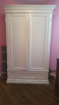 White Wardrobe Shabby Cottage Armoire Closet