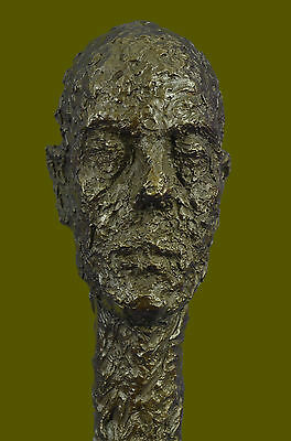 Bronze tribute sculpture of Alberto Cometti sculpture Brutalist Modernist Figure