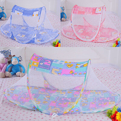 New Portable Folding Baby Infant Kid Bed Cradle Canopy Mosquito Net Tent
