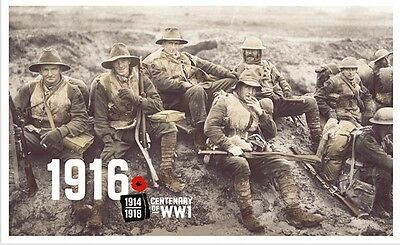 2016 Centenary of WWI 1916 - Stamp Pack