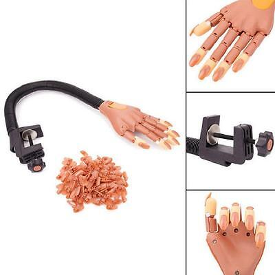 Hot Flexible Nail Training Hand + 100 Instead of Nails - Gel Acrylic Practice