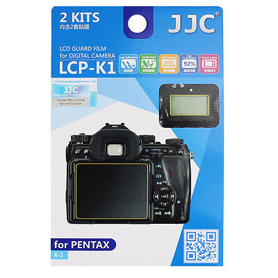 JJC 2Kits LCD Screen Protector Film LCD Guard for DSLR Camera PENTAX K-1 Mark II