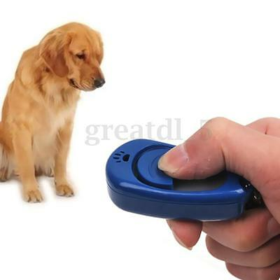 UK Pet Dog Puppy Click Clicker Training Trainer With Adjustable Volume & Tone