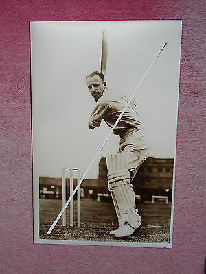 Cricket Photograph Of Sir Donald Bradman