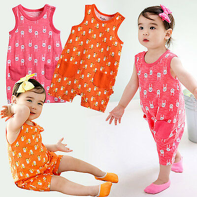 "Vaenait Baby Infant Girls Clothes Sleeveless Bodysuit Outfit ""G.Coolcool"" 0-24M"