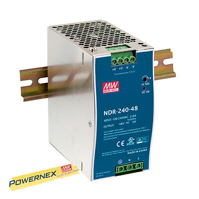 [POWERNEX] MEAN WELL NDR-240-24 24V 10A 240W AC/DC Single Output Power Supply