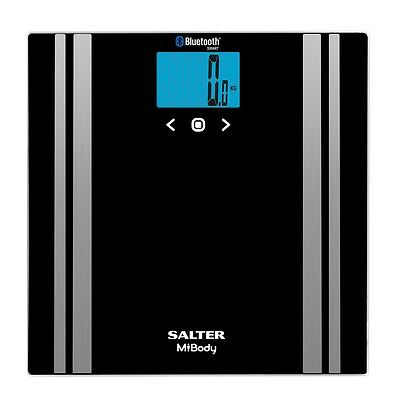 Salter MiBody Bluetooth Digital Body Analyser Bathroom Scales Black
