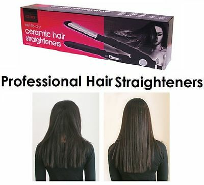 GLORY PROFESSIONAL CERAMIC HAIR STRAIGHTENERS - 95mm CERAMIC PLATES - UK SELLER