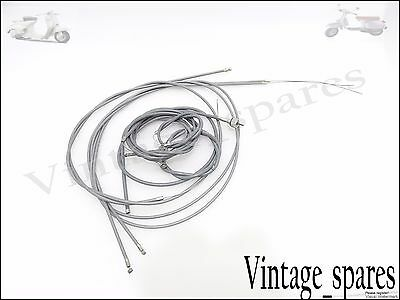Vespa Brand New Scooter Complete Cable Kit Grey Vbb Vbc Vlb Super Sprint