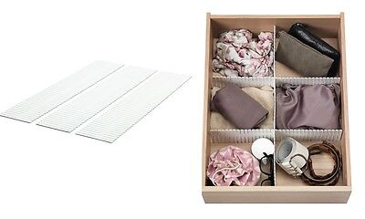 IKEA HOFTA DIVIDER FOR DRAWER- UNIVERSAL/ADJUSTABLE-PACK OF 3,2 Sizes Available