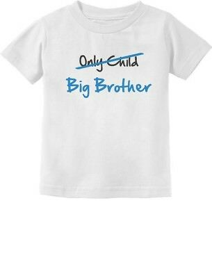 Only Child to Big Brother - New Baby Birth Announcement Kids Toddler T-Shirt NEW