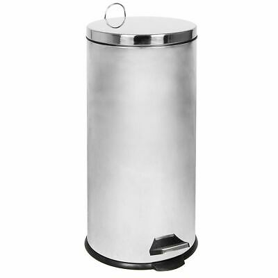 30 LITRE PEDAL BIN Stainless Steel Rubbish Recycle Inner Bucket Large Kitchen