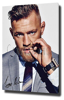 Conor Mcgregor Signed Canvas Print Poster Photo Wall Art 2015 Ufc Mendes Ufc 189