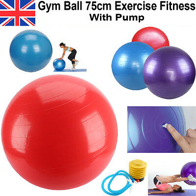 Sports Yoga Ball Anti Burst Swiss Fitness GYM Exercise Birthing Pregnancy Pump