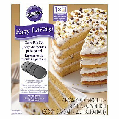 "Wilton Easy Layers! 8"" Cake Pan Set 4pc"