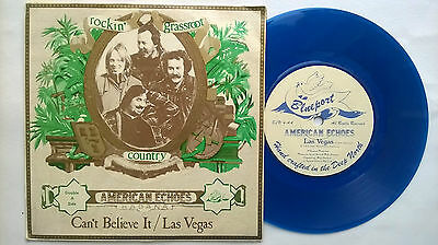 "American Echoes Can't Believe It Uk Blue Vinyl 7"" P/s Blueport Blu4 1978 Parsons"