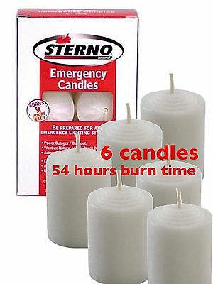 STERNO EMERGENCY CANDLES 12 PK Bug Out Survival Camping