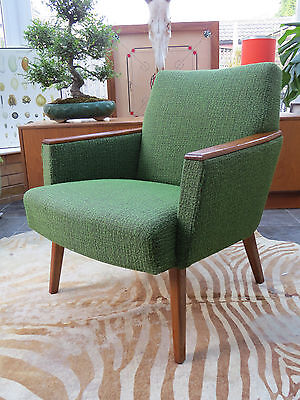 A Single Green Vintage East German Lounge Cocktail Arm Chair Circa 1955 My16/62