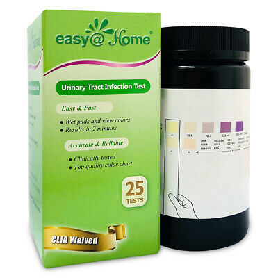 Easy@Home Urinary Tract Infection Test Strips (UTI test strips), 25 Tests/Bottle