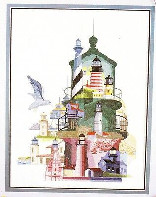 Crafts Galore - LIGHTHOUSES OF AMERICA - OOP Collage, New, Rare