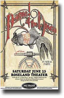 Panic at The Disco Poster - Concert Promo Brendon Urie Fish