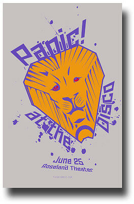 Panic at The Disco Poster - Concert Promo Brendon Urie Lion