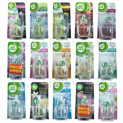 6 x Air Wick Airwick Electric Plug in Refills Scented Oils Warmer Diffuser