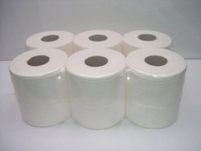 24 x 2 Ply White Centre Feed Embossed Paper Wipes Rolls Hand Towel Tissue