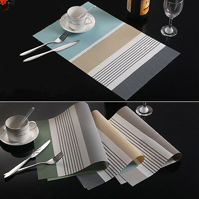 PVC Solid Insulation Bowl Placemats Dining Pad Western Table Mats Hot
