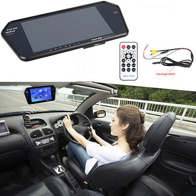 "7"" LCD Screen Car Rear View Mirror Monitor CCTV Reversing Camera Rearview MP5"