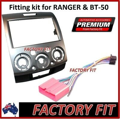 *Premium Fascia Kit & ISO Cable Harness For 07-11 For Mazda BT-50 Ford Ranger PK