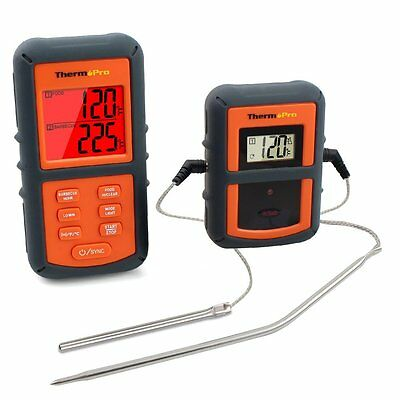ThermoPro TP-08 Remote Digital Wireless Food Thermometer - Dual Probe for BBQ, S