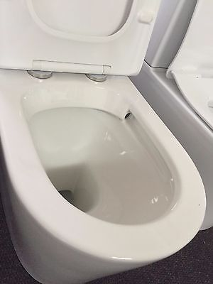 Kdk 022 Modern Rimless Flush Back To Wall Faced Washdown Toilet Suite / Soft