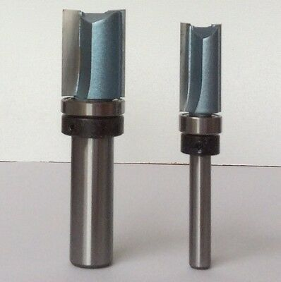 "Inverted Flush Trim Router Bit 1/4"" 1/2"" Shank Woodworking TCT Tools"