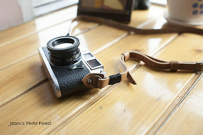 Handmade Real Leather camera strap neck strap for film camera EVIL camera 01-072