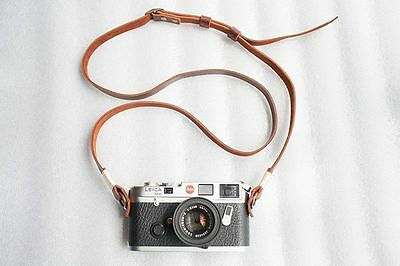 Handmade Real Leather camera strap neck strap for film camera EVIL camera 01-105